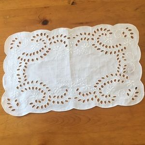 Other - Fabric Placemat - White - Pair